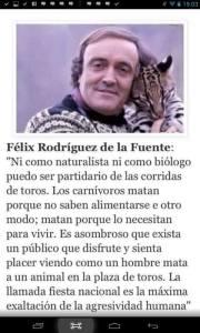 Felix Rodrigues de la Fuente me trae a la memoria a este cientienfico que descubrio el mundo y nos lego sus conocimientos, Eliseo Reclus. Otro hombre de bien que amo su planeta